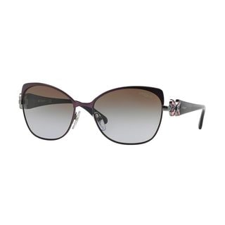 Vogue Women's VO3967S Red Metal Cat Eye Sunglasses