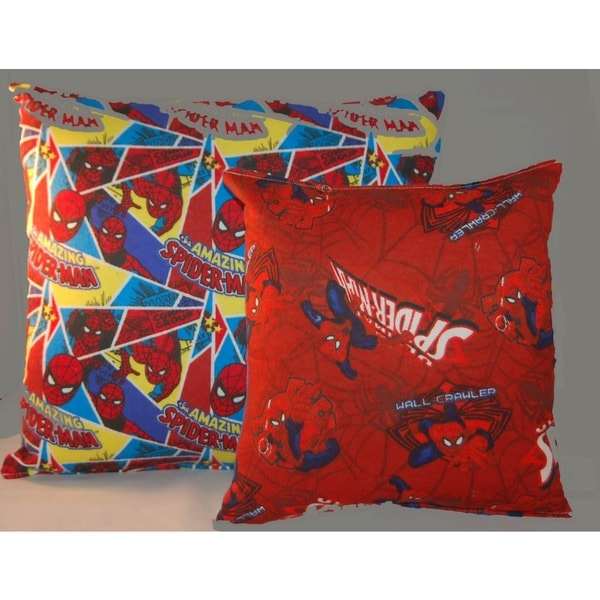 Marvel Spiderman Reversible 14-inch Throw Pillow with Spiderman Accessory/ Travel Pillow 16737229