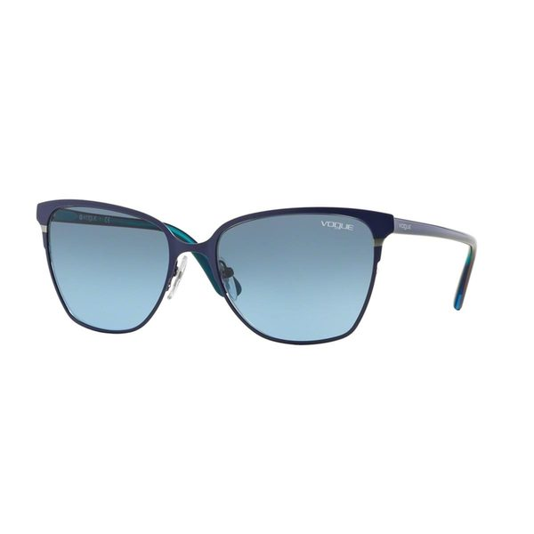 Vogue Women's VO3962S Blue Metal Square Sunglasses