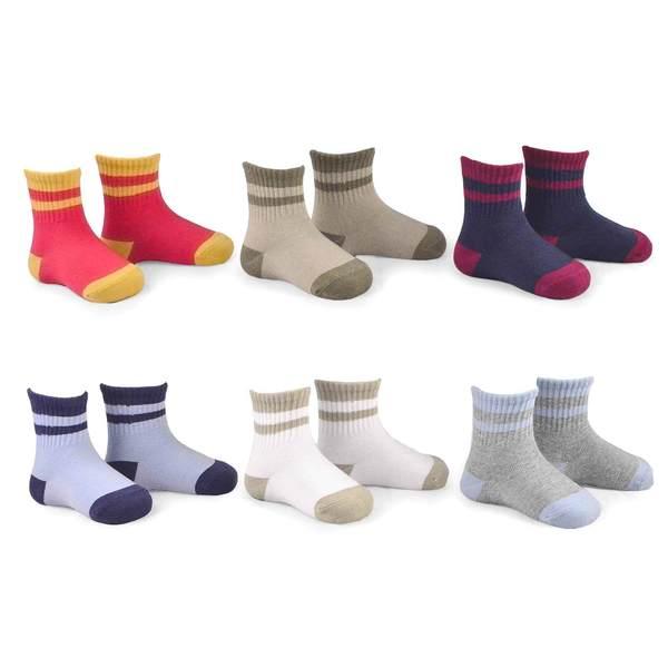 Naartjie Kids Boys Cotton Sports Crew Socks 6 Pairs Pack New Styles
