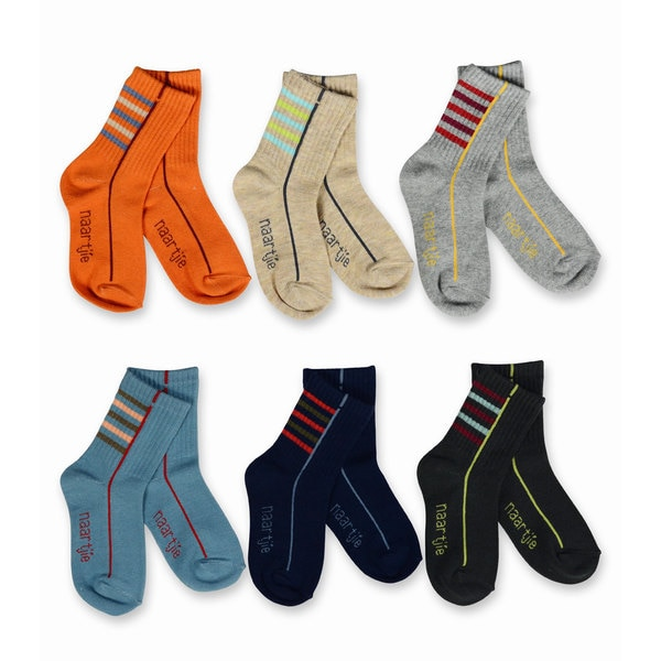 Naartjie Kids Boys 2016 Multi Stripe, Sport, Camo Socks 6-pk Crew
