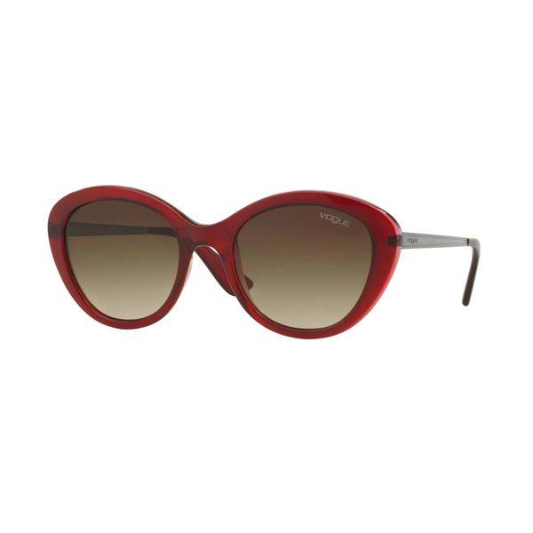 Vogue Women's VO2870S Red Plastic Cat Eye Sunglasses