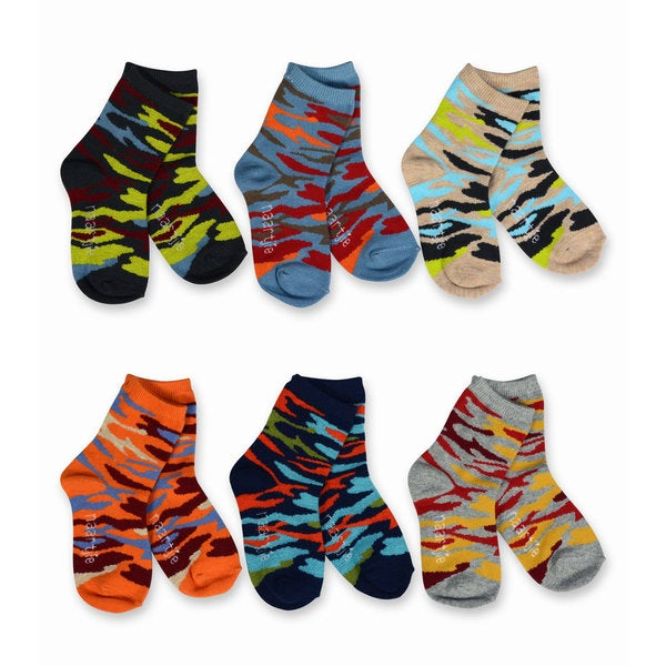 Naartjie Kids Boys 2016 Multi Stripe, Sport, Camo Socks 6-pk Crew