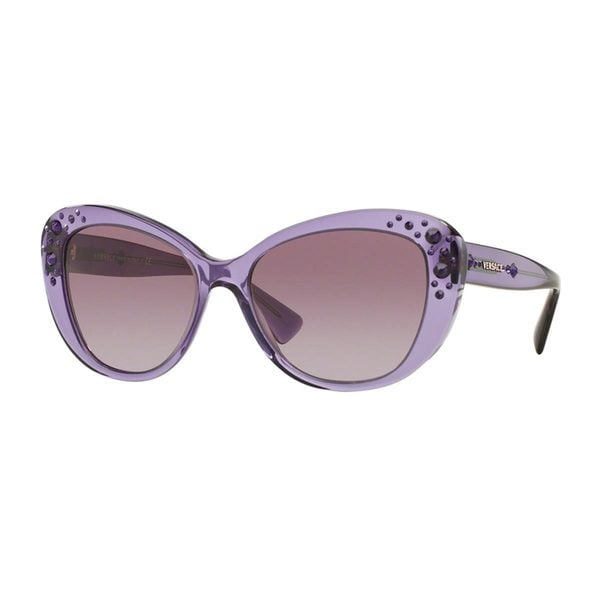 Versace Women's VE4309BA Violet Plastic Cat Eye Sunglasses