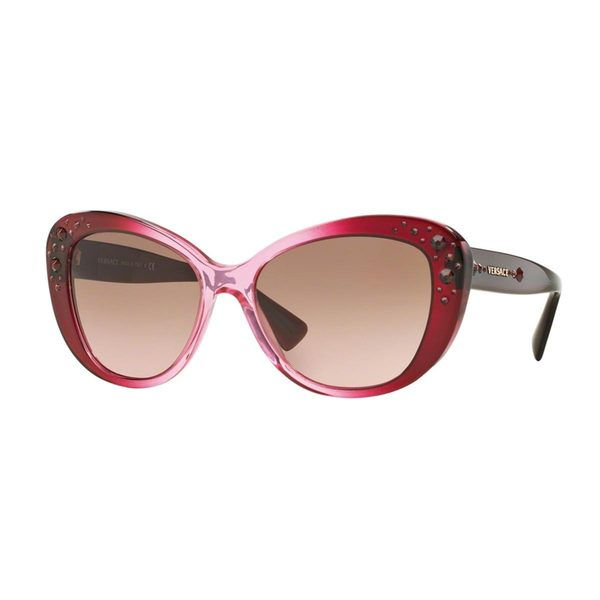 Versace Women's VE4309B Pink Plastic Cat Eye Sunglasses