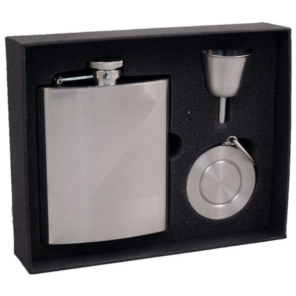 Visol Duo Two-Tone Stainless Steel Stellar Flask Gift Set - 8 ounces