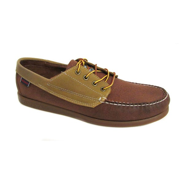 Sebago Men's Campsides Brown/Wax Canvas Boat Shoes