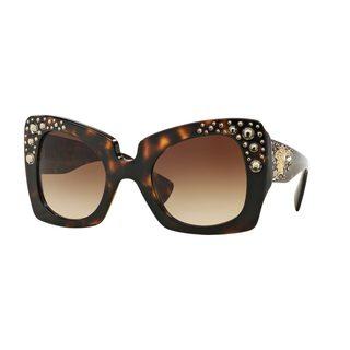Versace Women's VE4308B 54 Tortoise Plastic Butterfly Sunglasses