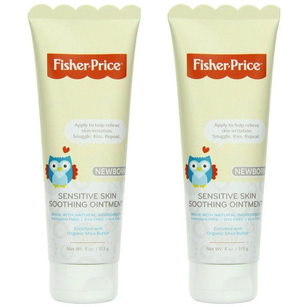 Fisher-Price Newborn Sensitive Skin Soothing Ointment, 4 ounces (2 pack)
