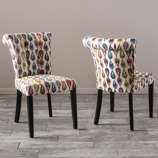 Christopher Knight Home Orchard Lovebird Fabric Dining Chair (Set of 2)