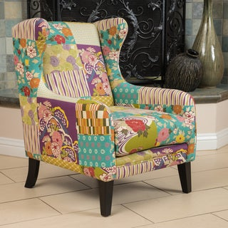 Christopher Knight Home Hooper Patchwork Fabric Club Chair