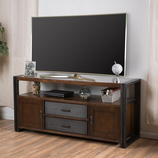 Christopher Knight Home Mayfair Dark Oak Wood TV Console Stand