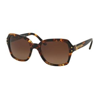 Tory Burch Women's TY7082 1481T5 Tortoise Plastic Square Polarized Sunglasses