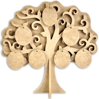 Beyond The Page MDF Family Tree-11.5inX11.875in