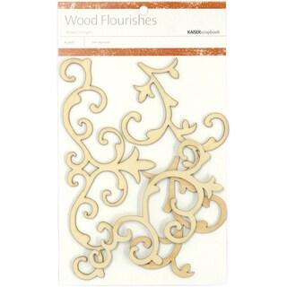 Wood Flourishes 4/Pkg-Fancy