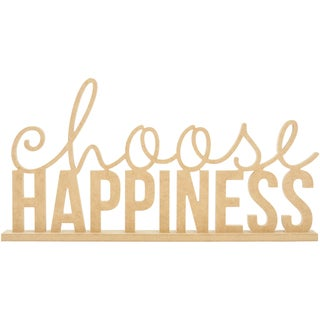 Beyond The Page MDF Choose Happiness Phrase-19.75inX10.25in, W/1.5in Base