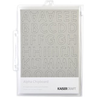 Chipboard Alphabet #3 8.25inX5.75in Sheets 3/Pkg-.875in Uppercase, Lowercase & Numbers
