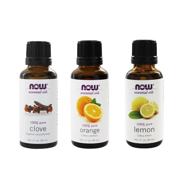 Now Foods Essential Oils Pack of 3 (Clove, Lemon, Orange)