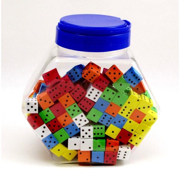 Koplow Games Assorted Color Spot Foam Dice (200 pieces)