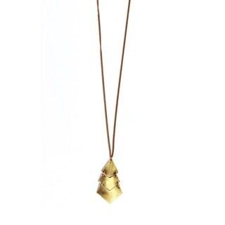 Brass Shani Pendant Necklace (Kenya)