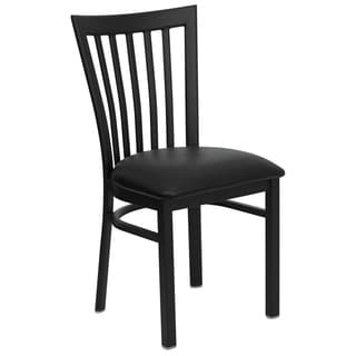 HERCULES Series School House Back Metal Restaurant Chair - Vinyl Seat