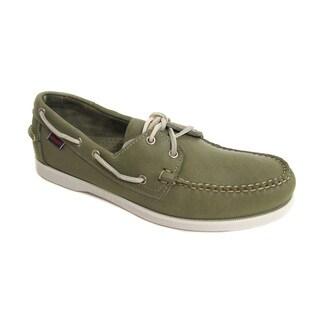 Sebago Men's Docksides Olive Green Boat Shoe
