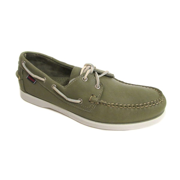 Sebago Men's Docksides Olive Green Boat Shoe