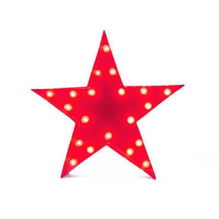 Indoor/Outdoor 2-foot Red Star Marquee Light