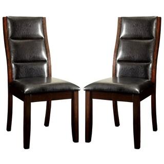 Basilique Paris Design Wood Framed Upholstered Dining Chairs (Set of 2)