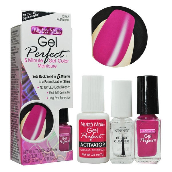 Nutra Nail Gel-Color Raspberry Manicure