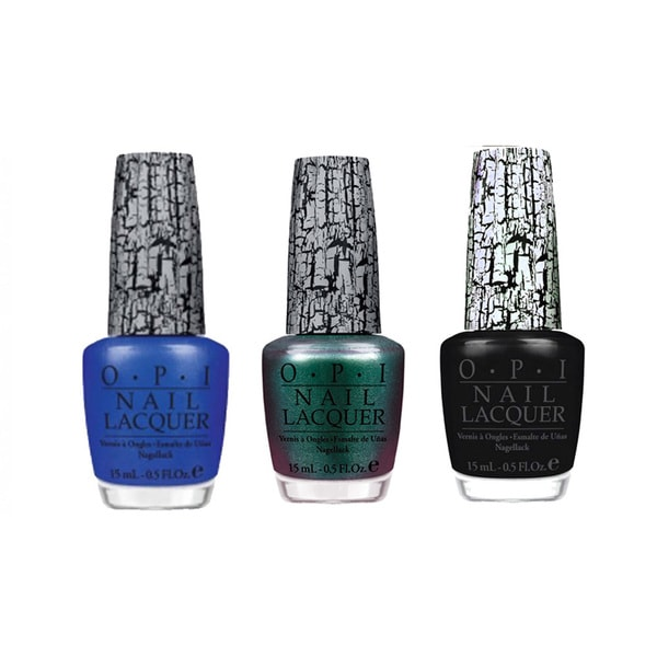OPI Nail Lacquer Shatter Set (Blue Shatter, Black Shatter, Shatter the Scales)