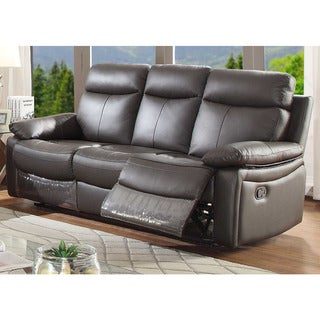 Ryker Brown Leather Reclining Sofa