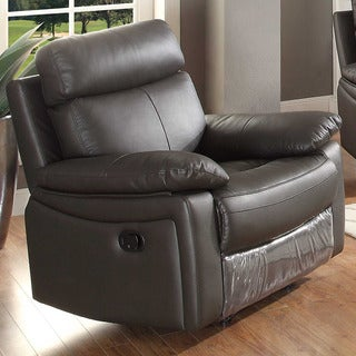 Ryker Brown Leather Glider Reclining Chair
