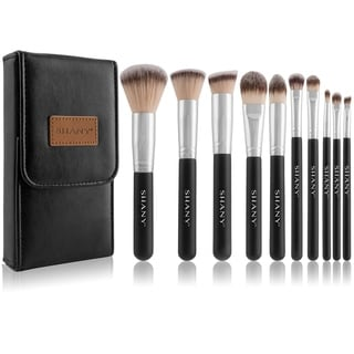 SHANY Black OMBRA Pro 10-piece Essential Brush Set with Travel Pouch