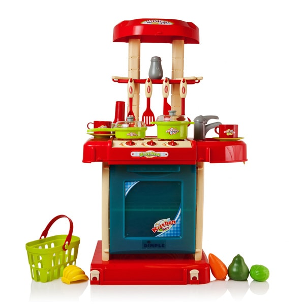 Dimple DC11612 On-The-Go 24-piece Kitchen Set with Play Food/ Cutlery Travel Case