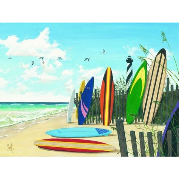 Scott Westmoreland 'Surf Boards' Gallery Wrapped Canvas