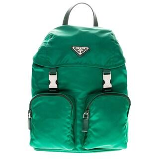 Prada Vela Nylon Buckle Backpack