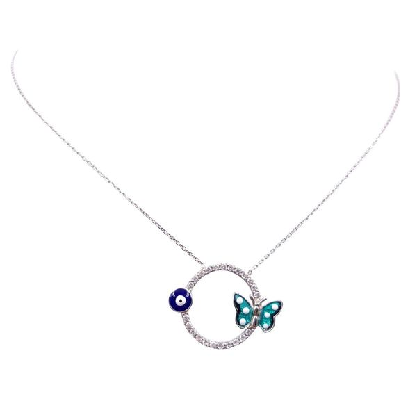 Evil Eye Butterfly Necklace