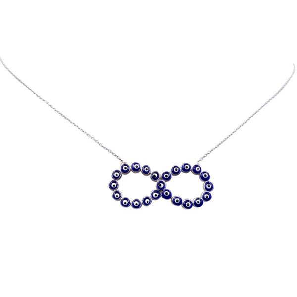 Evil Eye Silver Infinity Necklace