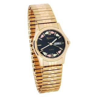 Mens WR2455 Black HIlls Gold Watch