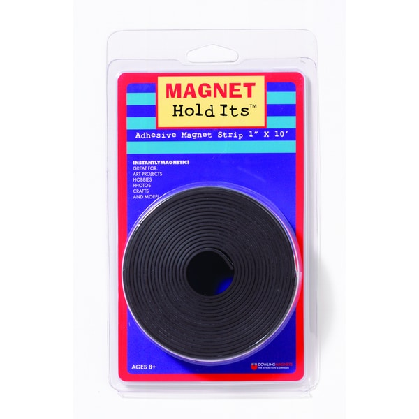 1-inch x 10' Roll of Magnet Strip with Adhesive