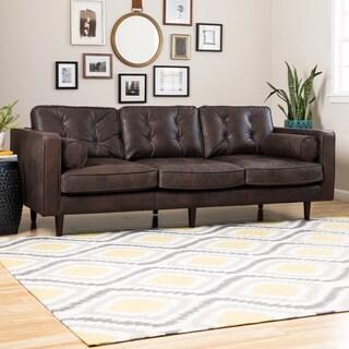 Metropolitan Brown Oxford Leather Sofa