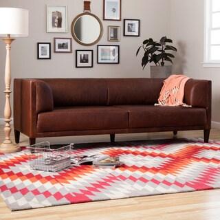 Nimbus Chocolate Leather Columbus Sofa
