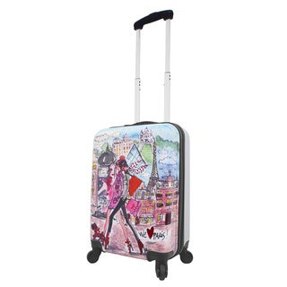 Mia Toro ITALY Izak-Paris 19-inch Expandable Carry-on Hardside Spinner Suitcase