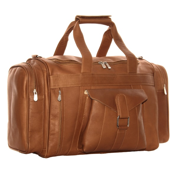 Piel Leather Loop Large Pocket Duffel Bag