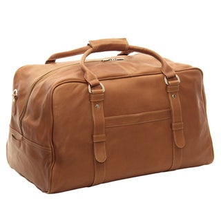 Piel Leather 19-inch Large Top-Zip Duffel Bag