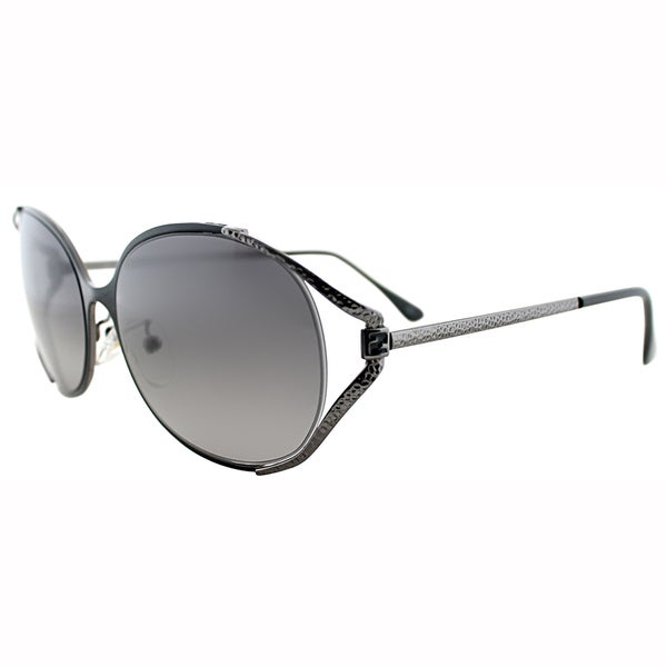 Fendi Womens FS 5166K 003 Black Metal Oval Sunglasses