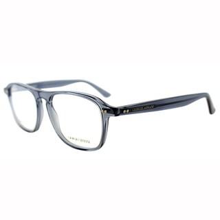 Giorgio Armani Womens GA 965 GLI Blue Transparent Square Plastic Eyeglasses-51mm