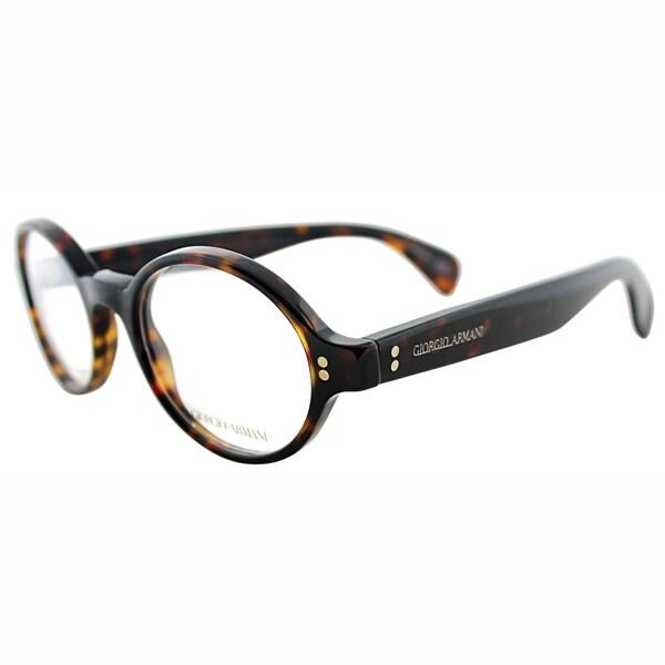 Giorgio Armani Mens GA 964 TVD Brown Havana Round Plastic Eyeglasses-47mm