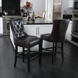 Christopher Knight Home Lyons Bonded Leather Counter Stool (Set of 2)